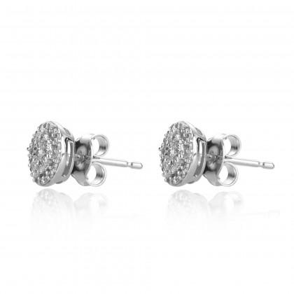 Boude Diamond Earring in 375/9K White Gold 25044(E)