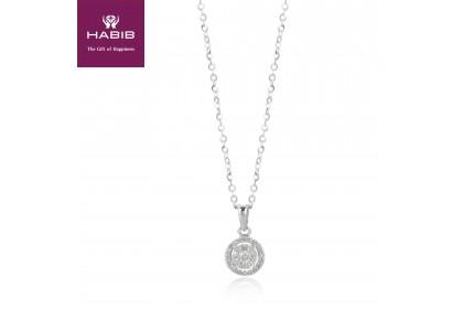 HABIB Boude White Gold Diamond Necklace(0.17ct) (2.10G)