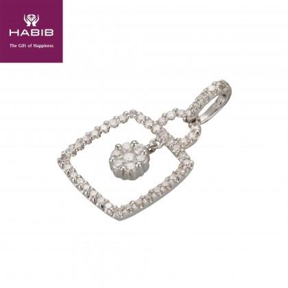 Adore Pollux Diamond Pendant in 750/18K White Gold UP134