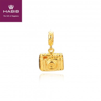 Camera Focus Gold Charm, 916 Gold (2.53G) CPT005