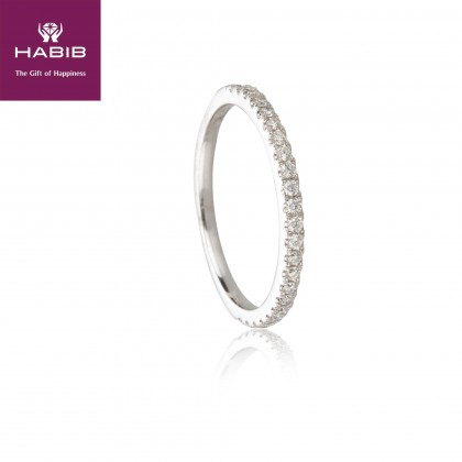 Delfino Isle Diamond Ring in 750/18K White Gold 11865