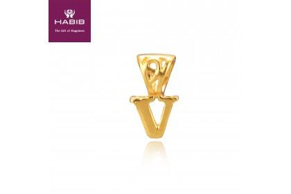 V Gold Charm (0.70G)