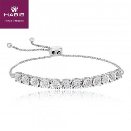 Diamond Bolo Bracelet in 375/9KWhite Gold 67806