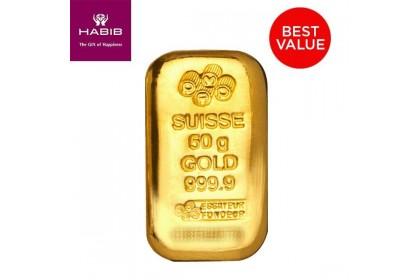 PAMP Suisse 50.00G Gold Bar - Casting