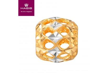 Gerbera Whita and Yellow Gold Charm (1.00G)