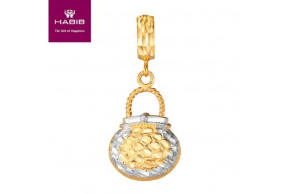 VB Liatris White and Yellow Gold Charm (3.38gm)