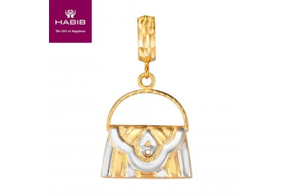 VB Protea White and Yellow Gold Charm (3.15G)
