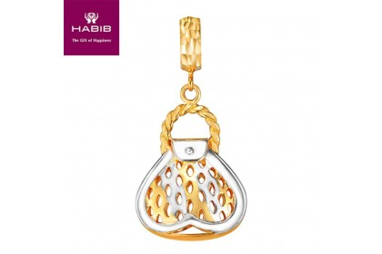 VB Loveheart White and Yellow Gold Charm (3.27G)