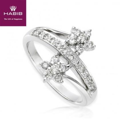 Bunga Tanjung Lanildae Diamond Ring in 750/18K White Gold