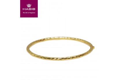 HABIB Byrrhus Pilula Yellow Gold Bangle, 9K Gold (4.16G-4.28G)