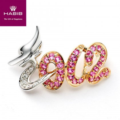 Aphids Pink Sapphire Diamond Pendant in 375/9K White and Rose Gold 34969