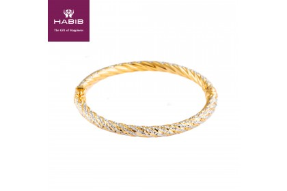 Anne Belle Gold Bangle, 916 Gold (11.2g)