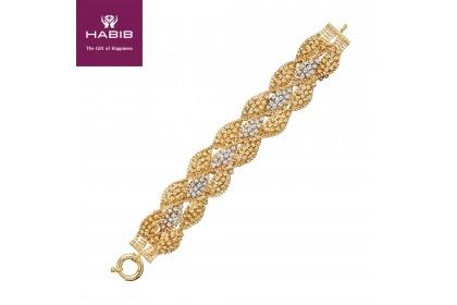 HABIB Oro Italia Bold Gold Bracelet, 916 Gold (51.66G)