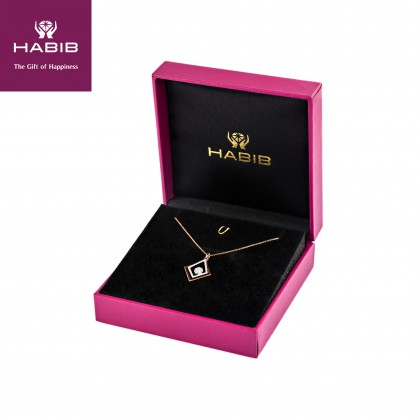 Adore Aksara Diamond Necklace in 750/18K White and Yellow Gold 55623