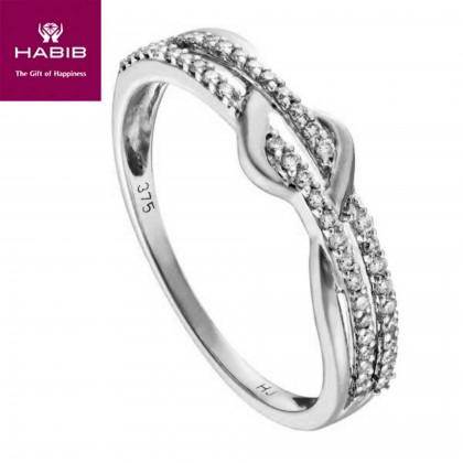 Alannah White Gold Diamond Ring in 375/9K White Gold 24831