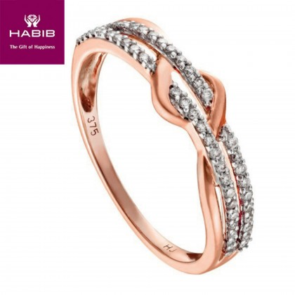 HABIB Alannah Rose Gold Diamond Ring in 375/9K Rose Gold 24831
