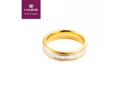 Rue White and Yellow Gold Ring (4.27G)