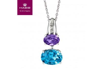 Purple Emperor Diamond Necklace