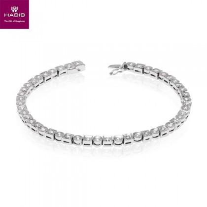 Bluemoon Diamond Tennis Bracelet in 375/9K White Gold 67611