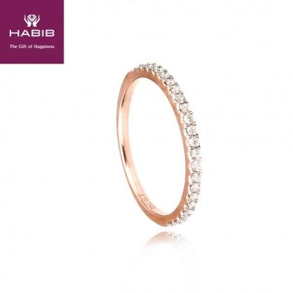 Delfino Isle Rose Diamond Ring in 750/18K Rose Gold 11865