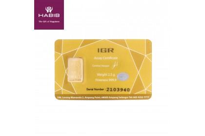 HABIB Exclusive Gold Bar, 999 (2.5G)