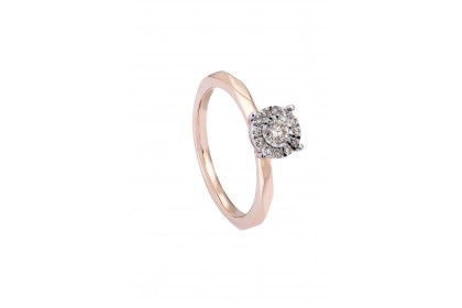 Sera Rose Gold Diamond Ring 25705