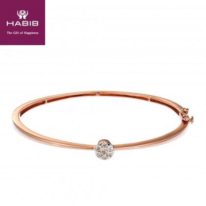 Cluster Round Diamond Bangle in 375/9K Rose Gold 679780820