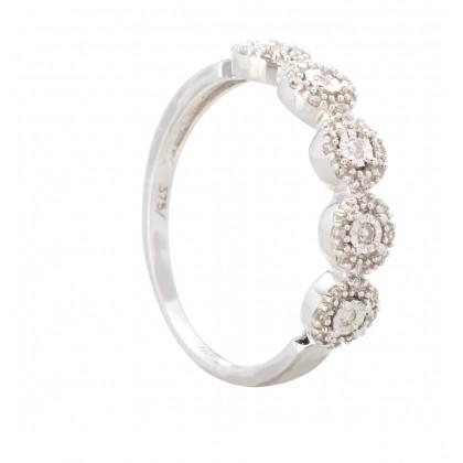 Blingtastic White Gold Diamond Ring in 375/9K White Gold 25029