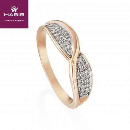 Noseis Diamond Ring in 375/9K Rose Gold 25610