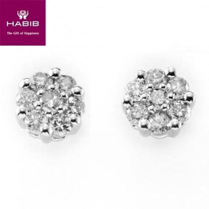 Adore Comfrey Diamond Earrings in 750/18K White Gold 45430
