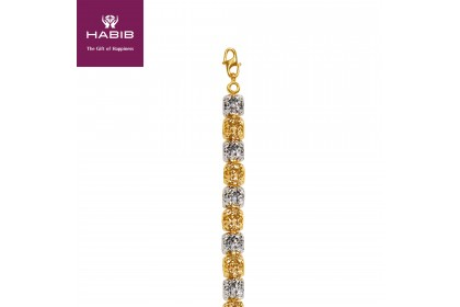 Roti Bun Casandra White and Yellow Gold Bracelet (17.17G)
