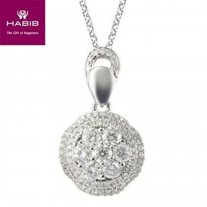 Amaryllis Diamond Pendant in 750/18K White Gold 35184