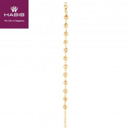 Celine White and Yellow Gold Bracelet, 916 Gold (11.40G) BR3692(S)