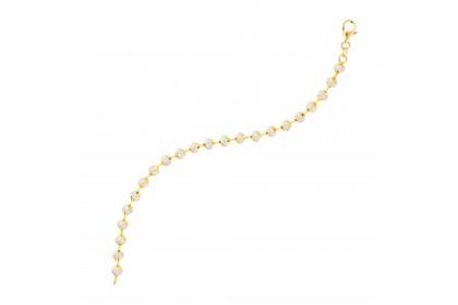Oro Italia 916 Beads Planet White and Yellow Gold Bracelet (13.12G) GW3167(5)-BI