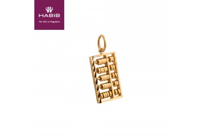 Abacus Gold Pendant (3.48G)