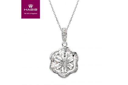 Quinn Diamond Pendant in 750/18K White Gold 35020