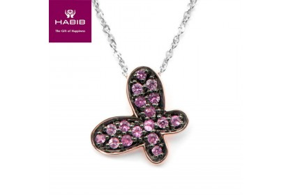 Chequered Skipper Diamond Pendant