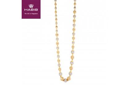 Oro Italia 916 Grande White and Yellow Gold Necklace (62.83G) GC2439-BI