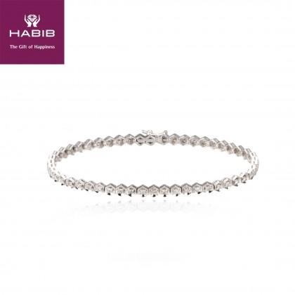 Abaia White Diamond Tennis Bracelet 06861-WG