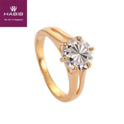 Audrey White and Yellow Gold Ring, 916 Gold (4.28G) R5734