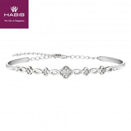 Armastus Diamond Bangle in 375/9K White Gold 67828