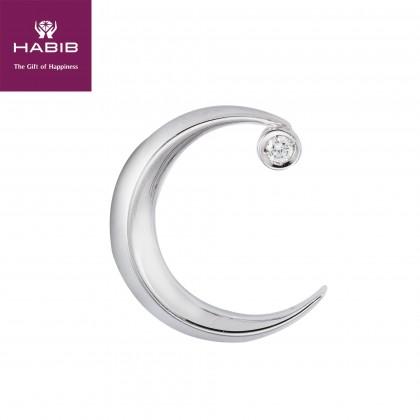 Dimidium Luna Diamond Pendant in 750/18K White Gold WP6882 NF