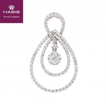 Adore Ovalis Diamond Pendant in 750/18K White Gold 35141