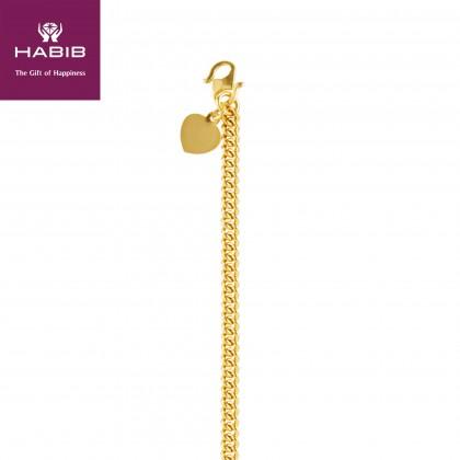 Sauh Lama Kosong Gold Bracelet, 916 Gold (21.01G) GW012