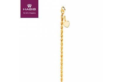 Pintal Kosong Gold Bracelet, 916 Gold (5.96G) GW035