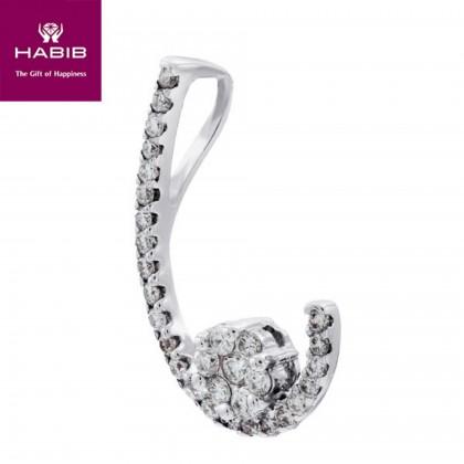 Adore Monahiki Diamond Pendant in 750/18K White Gold 34461