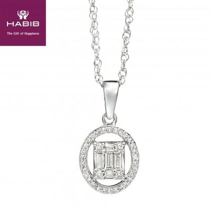 Fire on Ice Faith Diamond Necklace