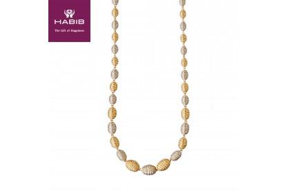 Oro Italia 916 Grande White and Yellow Gold Necklace (67.88G) GC25030220-BI