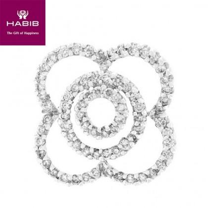 Bluella Diamond Pendant in 750/18K White Gold 34303