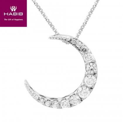 De Coche Diamond Necklace in 750/18K White Gold 55488